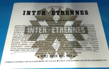 """""""Inter Etrennes"""", intervention d'Alex Mlynarcik et Pierre Restany, du 8 au 16 décembre 1972"""
