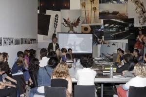 Magiciens de la terre, retour sur une exposition légendaire : séance de l'Université d'été organisée par la Bibliothèque Kandinsky, en présence d'Elio Montanari ©Hervé Véronèse Centre Pompidou