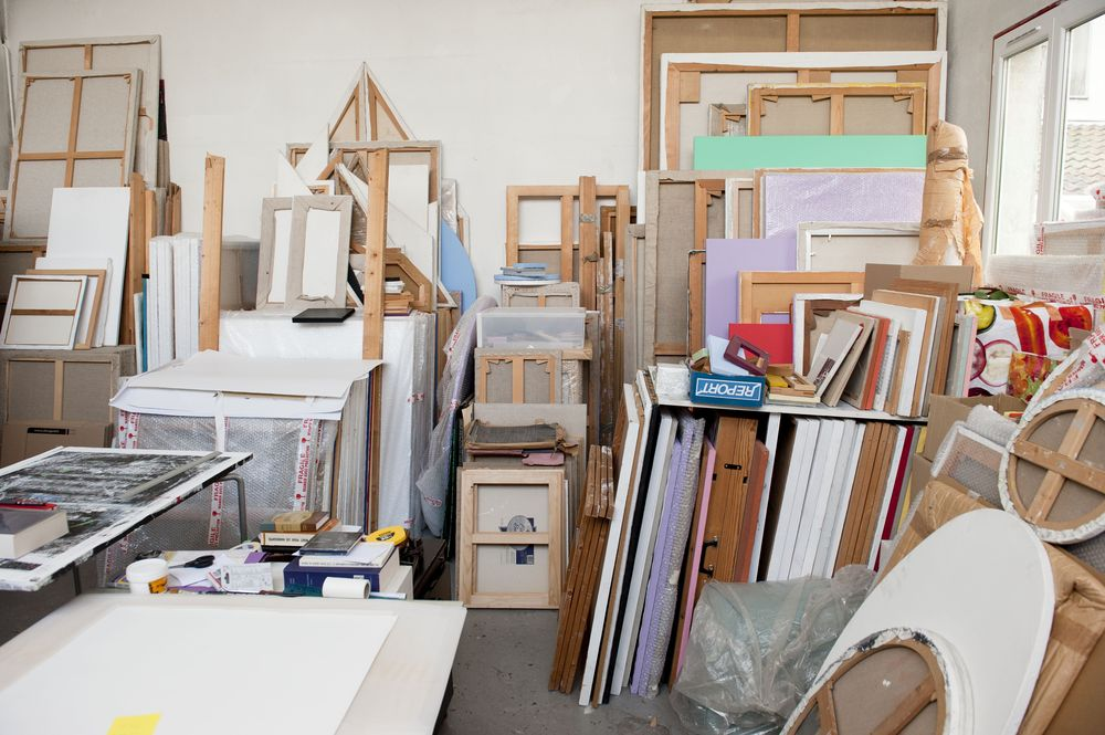 Atelier Claude Rutault, 2012. Photographe Jean-Christophe Mazur.